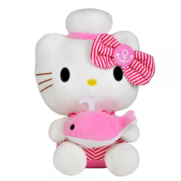 Мягкая игрушка Hello Kitty с дельфином, 80 см